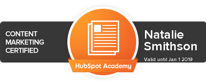 Natalie Smithson | Hubspot Certified | Content Marketing