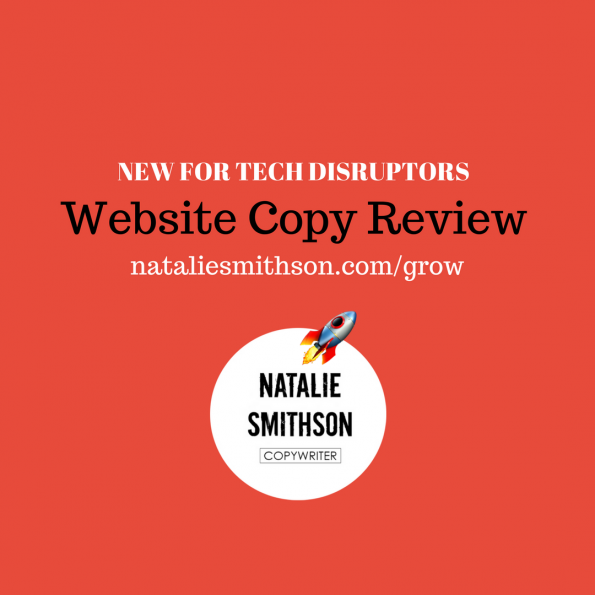Website copy review by Natalie Smithson