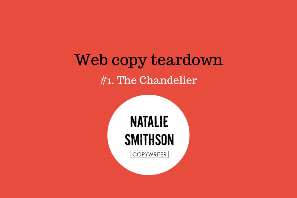 Web copy teardown Natalie Smithson - events