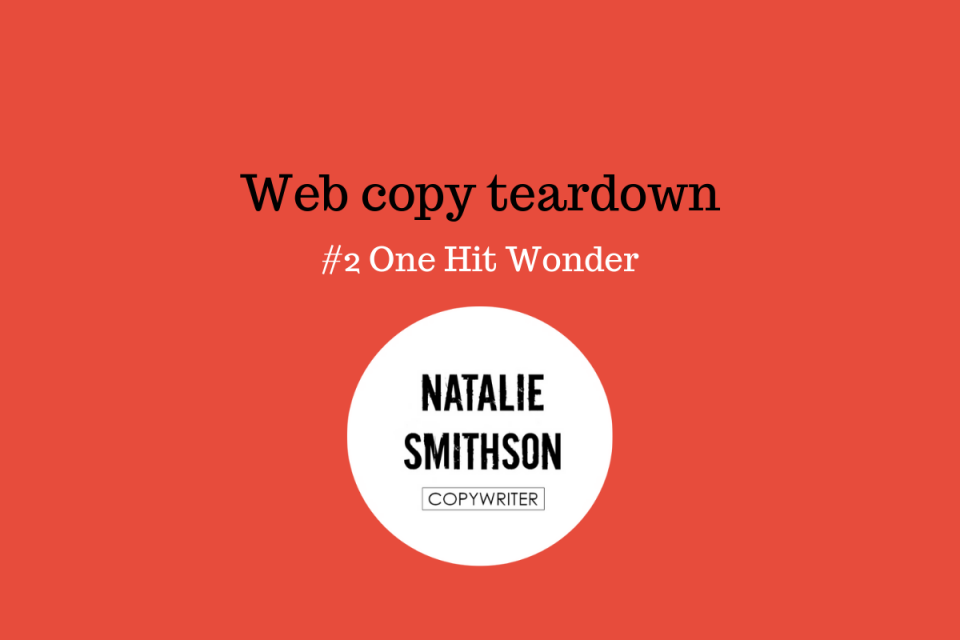 Web copy teardown Natalie Smithson - advocacy