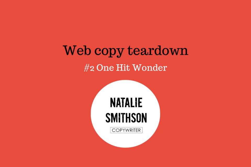 Web copy teardown Natalie Smithson - advocacy